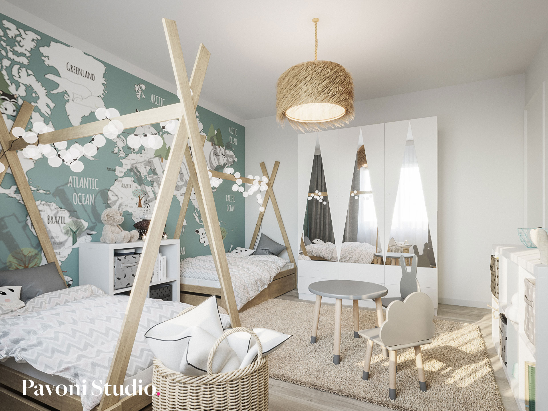 Kids room design furniture
