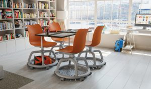 Campus tray chair with table