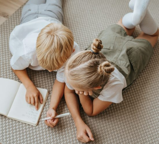 Kids study at home